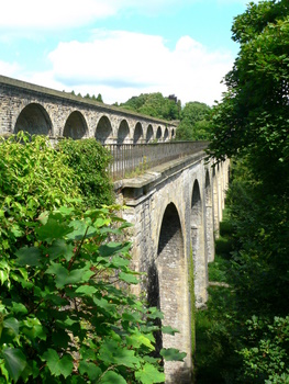 The Chirk Aqueduct on the Llangollen Canal